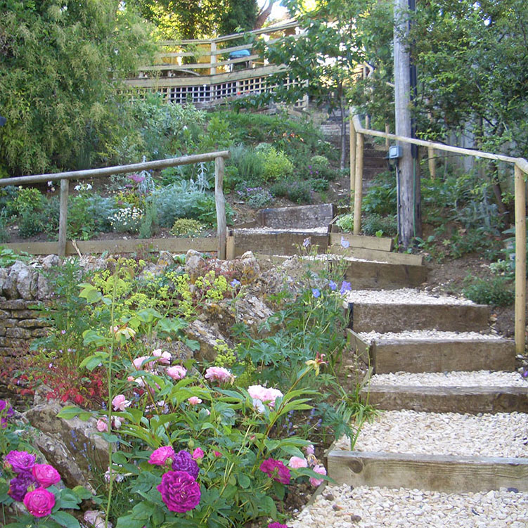 Sloping Garden Ideas And Optimal Solutions For Landscape: Peter Rushton Landscapes » Sloping & Difficult Gardens